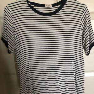 Dark navy striped shirt